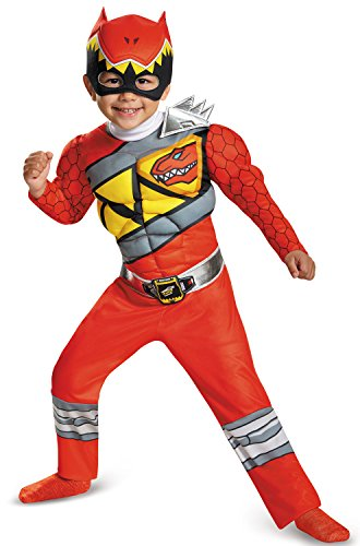 Disguise Red Ranger Dino Charge Toddler Muscle Costume, Small (Power Rangers Toddler Costume)
