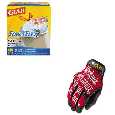 kitcox70427mnxmg02010 – Valueキット – Mechanix Wear The Original作業手袋(mnxmg02010 ) とGlad ForceFlex tall-kitchen巾着バッグ(cox70427 ) B00MONYG3S