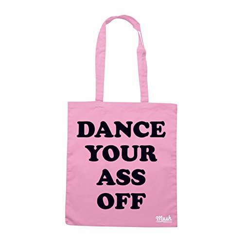 Borsa FOOTLOOSE DANCE YOU ASS OFF T-SHIRT - Rosa - FILM by Mush Dress Your Style