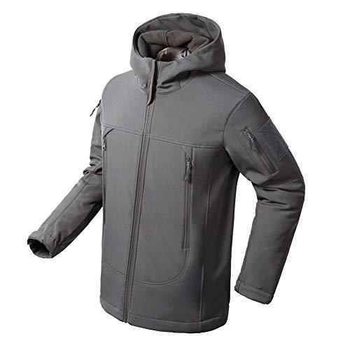 (Flying Eagle Tactical Jackets Softshell Fleece Lined Water Repellent Jackets Winter Windproof Coat for Men )