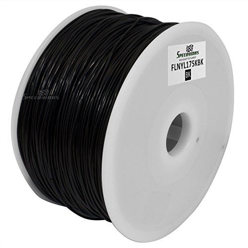 Speedy Inks - 1.75mm 1kg Nylon Black Filament for 3D Printers by Speedy Inks