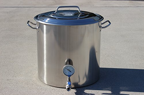 CONCORD Stainless Steel Home Brew Kettle Stock Pot (Weldless Fittings) (160 QT/ 40 - 160 Pot Stock Quart