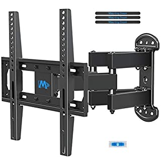 Mounting Dream TV Mount Bracket Full Motion TV Wall Mounts for 26-55 Inch LED LCD Plasma Flat Screen TV, Wall Mount with Swivel Articulating Dual Arms TV Bracket up to VESA 400x400mm 99 LBS MD2379