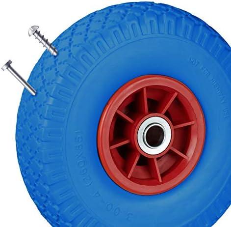 2x SACK TRUCKS TYRES Sackkarrenrad Spare Wheel Plastic Rim Air Tyre Rubber
