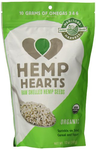 Manitoba Harvest Organic Hemp Hearts Raw Shelled Hemp Seeds, 12 Ounce