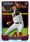 2012 Bowman Chrome Draft Refractor #1 Trevor Bauer Baseball Rookie Card - Only 300 made!