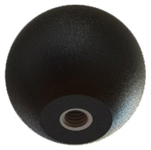 Innovative Components AN4C-B0-L-21 .75'' Ball knob, 1/4-20 steel zinc locknut, black pp (Pack of 10)