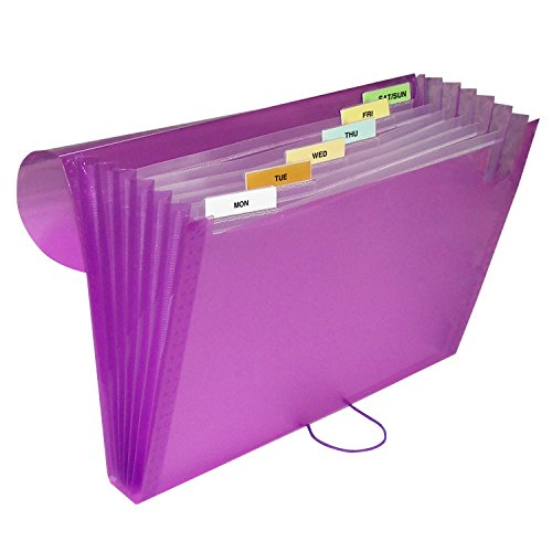 C-Line 7-Pocket Expanding File, Includes Tabs, Letter Size, 1 Expanding File, Color May Vary (58300)