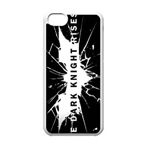 iPhone 5c Cell Phone Case White The Dark Knight Rises Logo Bolcs