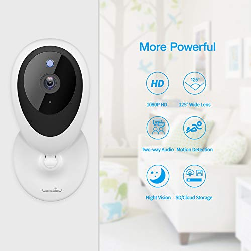 Wansview Baby Monitor, 1080P Pet Camera WiFi Home Security Camera with Motion Detection 2-Way Audio Night Vision, Works…