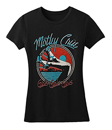 Global Merchandising Ladies Motley Crue Heels V3 Short Sleeve T-Shirt (Large, Black)