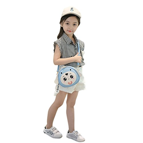 Claro Light Blue de 69x2 Dabixx niños Bolso 75x6 Long Perro Azul Light Dog Blue Color 3 para diseño 7x7x16cm 6 Bandolera Rabbit Ear zqBzx1