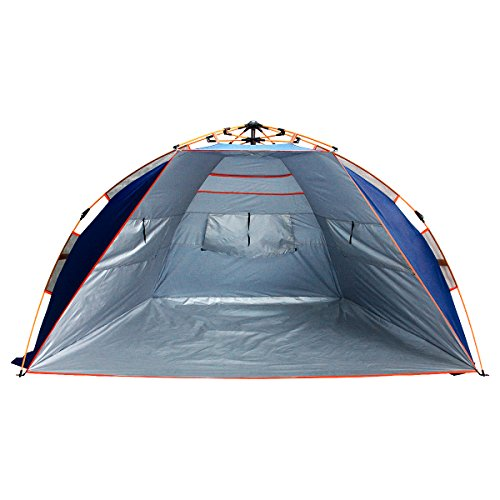 Qwest Premium Half-Dome Easy Instant Pop Up Park & Beach 2-Person Sun Shelter Tent, Anti-UV Waterproof Windproof Lightweight, Sets Up in Seconds