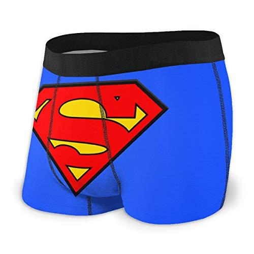 OPKSII Superman Logo Boxer Briefs Men's Underwear Pack Seamless Comfort Soft Black