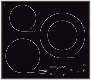 Fagor IFT-3S - Placa (Incorporado, indución eléctrica, Vidrio y cerámica, Sensor, Frente, 1.5m) Negro