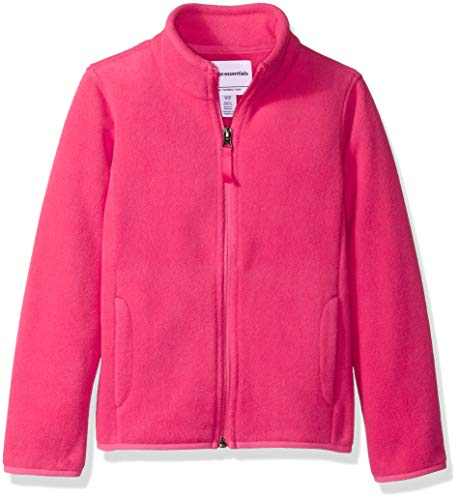 Amazon Essentials Girl's Full-Zip Polar Fleece Jacket, Dark Pink, -