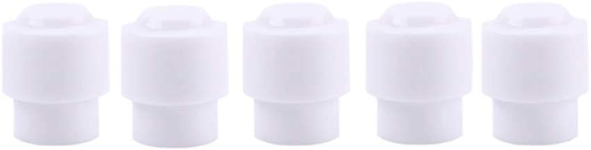 Exceart 5pcs Guitar Top Hat Switch Tip Pickup Selector Switch Knobs for Fender Tele Telecaster White