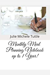 Monthly Meal Planing Notebook up to 1 Year! Paperback