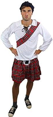 Disfraz masculino: escocés, Escocia, Montañes, Braveheart, Kilt ...