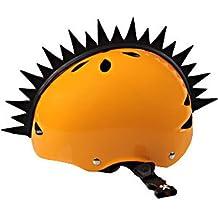 Bmx Snowboarding Ski Helmet Mohawk Peel and Stick Rubber Motorcycle Dirt Bike Snowmobile Helmets Mohawks Plus Bonus Shark Fin Warhawks Skate Roller Derby Skateboard Bicycle Mountain Bike Helmet Mohawk (Helmet Not Included)