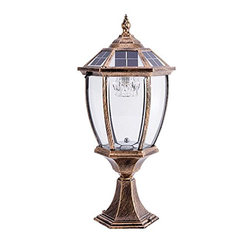 LED Light LED Solar Post Lights Contemporary Collection Exterior Outdoor Post Lantern Column Lights(Φ24cm50cm) Home Decoration (Aluminum Lamp Arm Heat)
