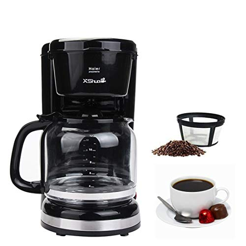 Drip Coffee Maker, 12 Cup Thermal Coffee maker,Automatic Coffee Machine with Glass Carafe,Black
