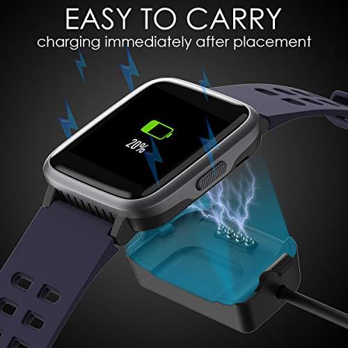 LATEC Pulsera Actividad Reloj Inteligente Impermeable IP68 Smartwatch Pantalla Táctil Completa con Pulsómetro Cronómetro Pulsera Deporte para Hombres Mujeres Niños con iOS y Android 13