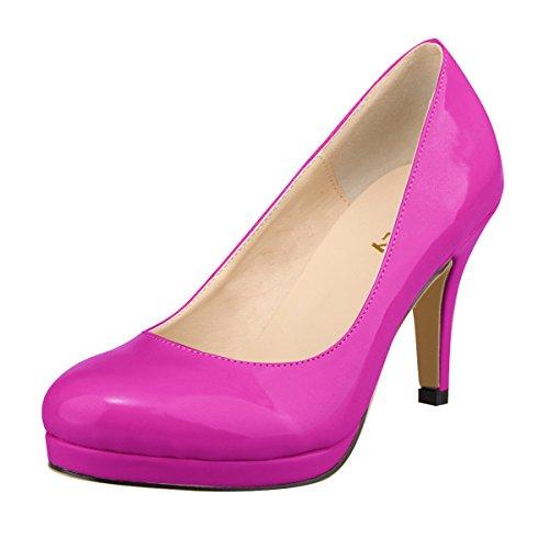 Mei & S Ladies Stiletto High Heels Flat Mouth Party Nightclub Scarpe Da Sposa Con Plateau Pumps Viola