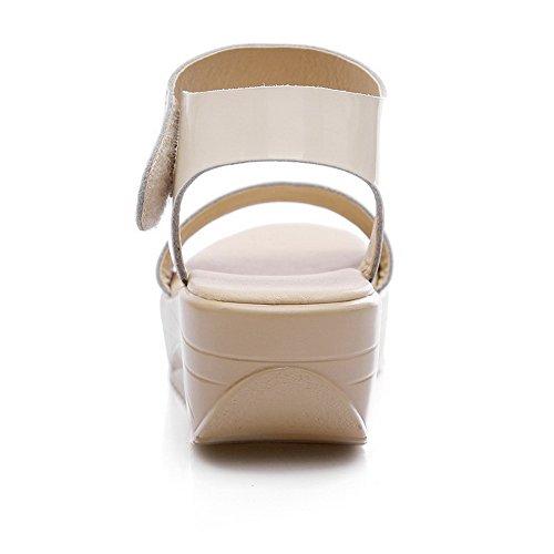 Allhqfashion Vacchetta Da Donna In Pelle Di Vacchetta Con Cinturino E Gancetto Aperto Con Cinturino E Sandali Tacco Alto