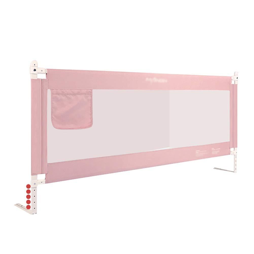 幼児のためのベッドの柵、赤ん坊のBedrailの縦の上昇、調節可能な携帯用長いBedrailの高さ - ピンク,220cm  220cm B07TVGKPP8