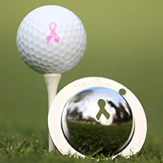 product image for Tin Cup Golf Ball Stencil Breast Cancer Awareness