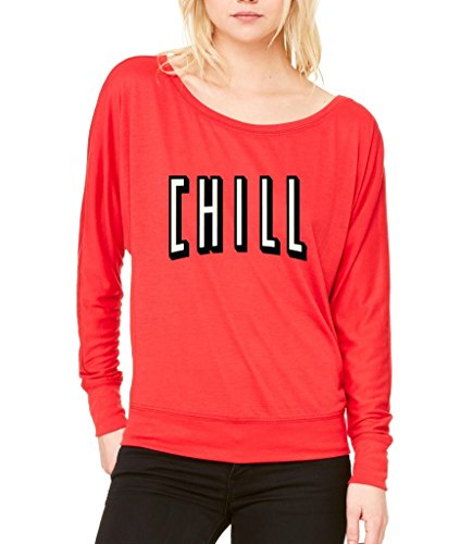 Netflix and Chill Long-Sleeve Funny Hangout Flowy Shirt