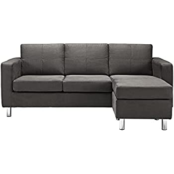 Beau Dorel Living Small Spaces Configurable Sectional Sofa, Gray