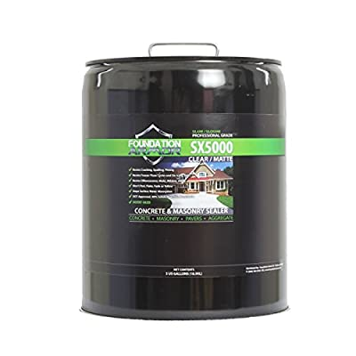 5-Gal. SX5000™ Penetrating Clear Solvent-Based Silane-Siloxane Concrete & Masonry Sealer, Water Repellent, Salt Guard