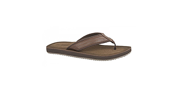 men toe post flip flop mule sandal PDQ lightweight EVA//TPR sole brown size 6-12