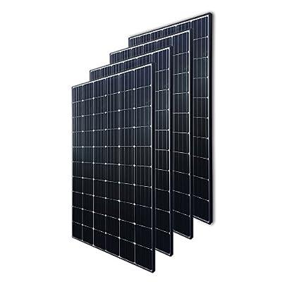 Renogy 4pcs, 300 Watt 24 Volt Monocrystalline Panel 1200W Grid Large Solar System Residential Commercial House Cabin Sheds Rooftop, 300W
