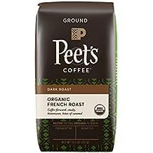 Peet's Coffee, People & Planet, Organic French Roast, Dark Roast, Ground Coffee, 10.5 oz. Bag, USDA Organic Coffee, Bold & Complex Dark Roast Blend of Latin American Coffees, Smoky Flavor & Bite