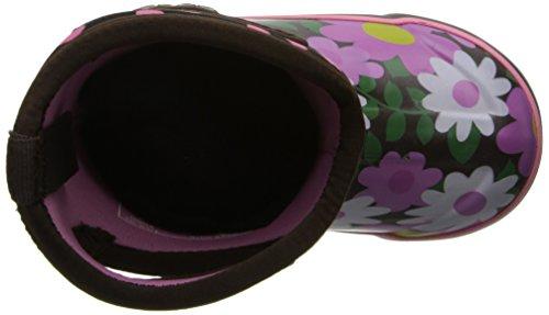 Bogs Kids Classic Alta Impermeabile Coibentata In Gomma Neoprene Da Pioggia Boot Fiore Dot Stampa / Caffè / Multi