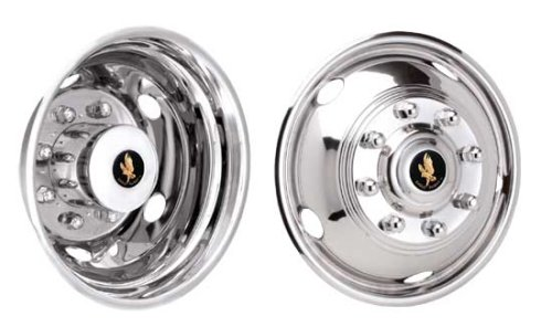 Eagle Flight 19.5'' Stainless Steel Wheel Simulators for 1999-2002 Ford F450 & F550 by Eagle Flight