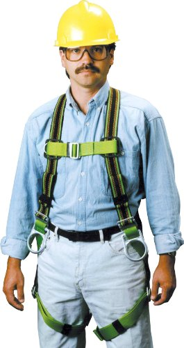 Miller DuraFlex Stretchable Full Body Safety Harness with Side D-Rings & Leg Mating Buckles, Small/Medium, 400 lb. Capacity (E650-7/S/MGN) -