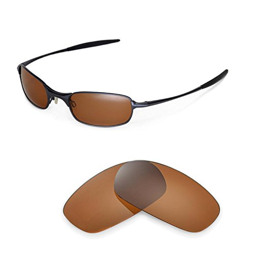 Walleva Polarized Brown Replacement Lenses for Oakley Square Wire ()