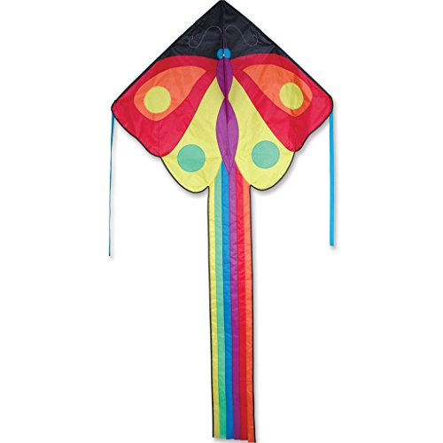 "Kite - Large Easy Flyer Kite - Butterfly (47"" X 91.5"") with 300 Ft 30lb Test Kite String and Winder"