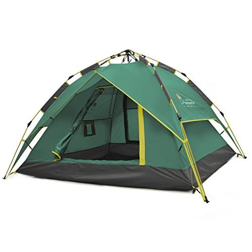 Mountaintop Outdoor 2-3 Person Camping Tent/Backpacking Tents with Carry Bag 3 Season Tents for Camping Army Green
