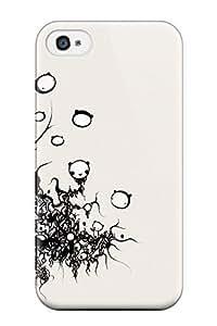 AnnaSanders Iphone 4/4s Well-designed Hard Case Cover Cute Bear Illustration Dark Cartoon Anime Cartoon Protector