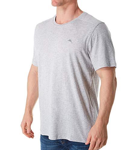 Tommy Bahama Men's Cotton Modal Knit Jersey T-Shirt Heather Grey Medium ()