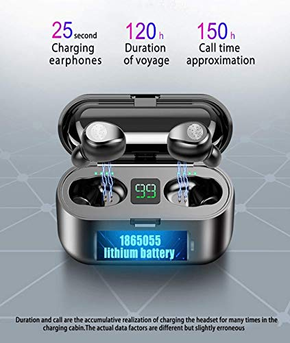 Bluetooth Earbuds, Upgraded 5.0 Earbuds with 2000mAh Charging Case Led Battery Display 60H Playtime in-Ear Touch Bluetooth Headset IPX7 Waterproof True Wireless Earbuds for Work Sports