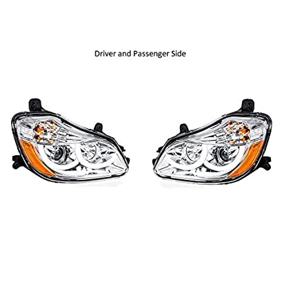 amazon com: united pacific 2013-2018 kenworth t680 chrome projection  headlights with led position light : automotive
