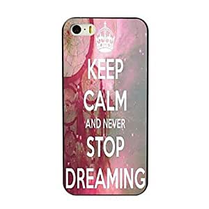 LCJ Never Stop Dreaming Design Hard Case for iPhone 4/4S
