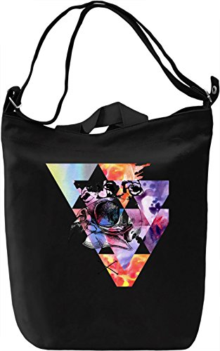 Triangle and Bird Borsa Giornaliera Canvas Canvas Day Bag| 100% Premium Cotton Canvas| DTG Printing|