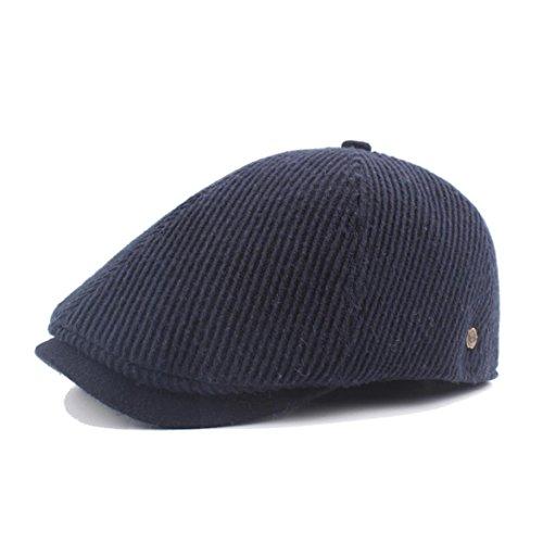 Hemlock Berets Hats Men, Vintage Painter's Hats Unisex Cotton Hat Director Berets Hat Cap (Navy) ()
